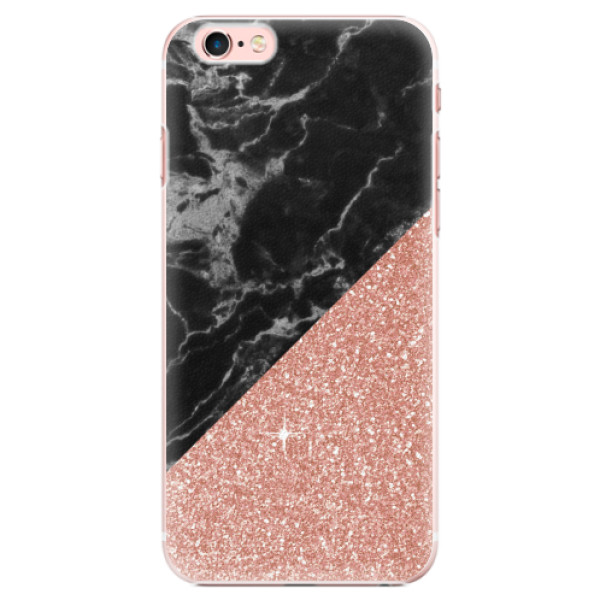Plastové pouzdro iSaprio - Rose and Black Marble - iPhone 6 Plus/6S Plus