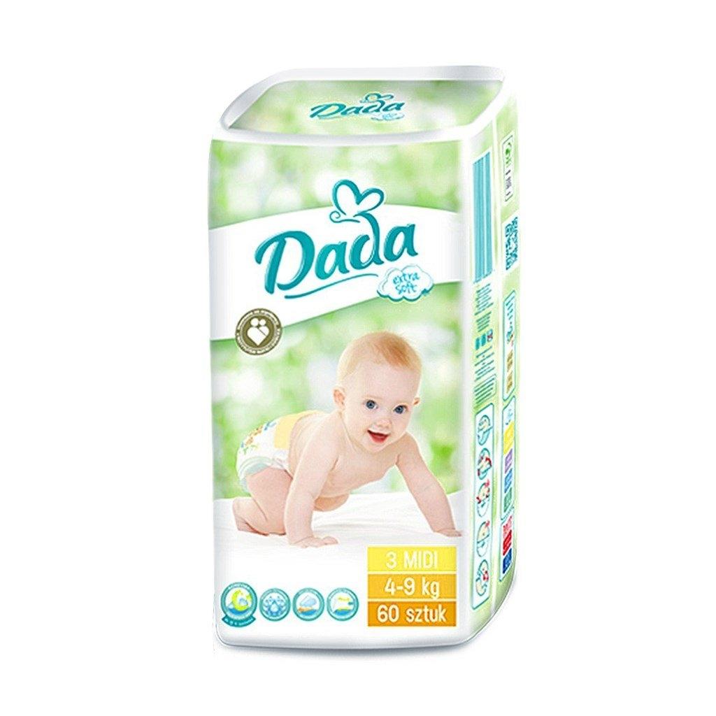 Dada Extra Soft plenkové kalhotky vel 3, (4-9 kg) 54 ks