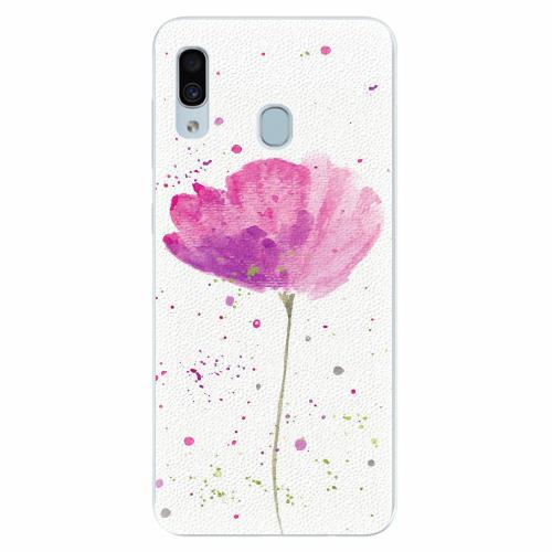 Silikonové pouzdro iSaprio - Poppies - Samsung Galaxy A30