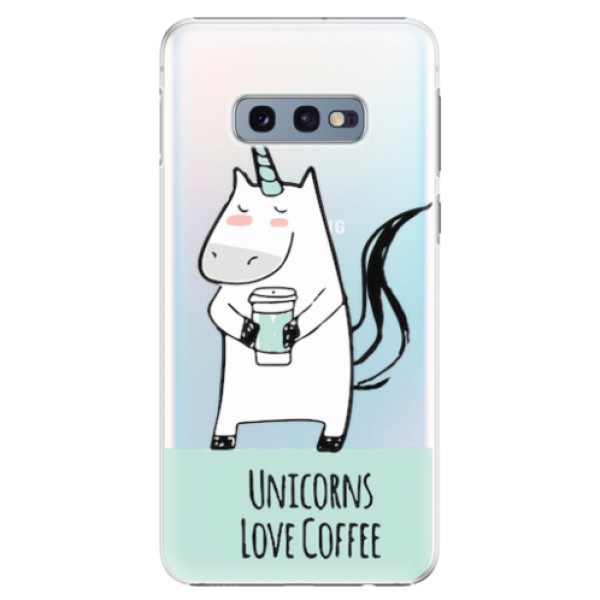 Plastové pouzdro iSaprio - Unicorns Love Coffee - Samsung Galaxy S10e