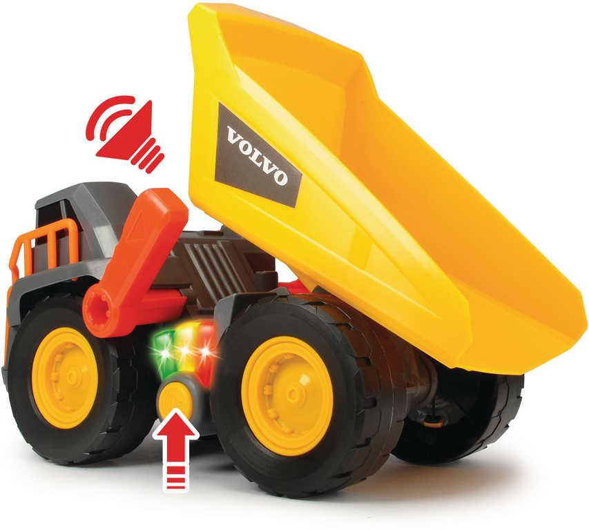 DICKIE Auto nákladní Volvo Weight Lift Truck 30cm na baterie Světlo Zvuk