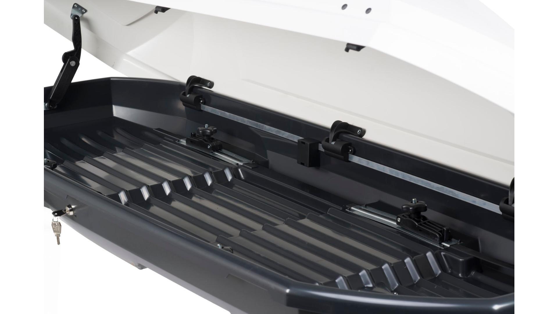 Taurus střešní box Adventure (190 x 67 x 42) 340l. - bílý lesklý (obojstranne otevíratelný)