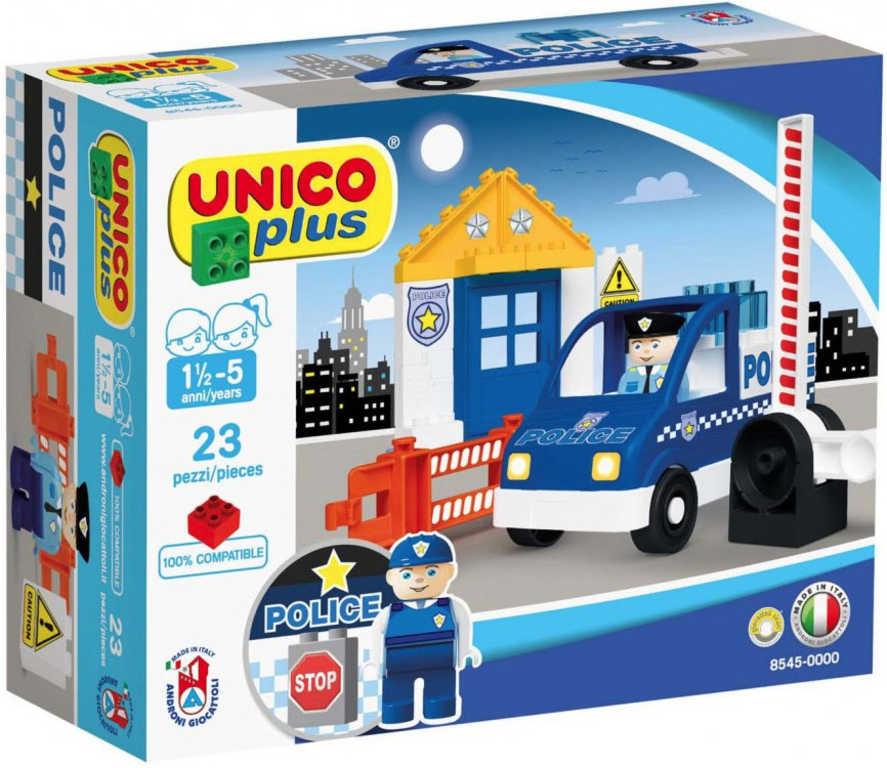 ANDRONI Unico baby Malá policejní stanice 23 dílků STAVEBNICE