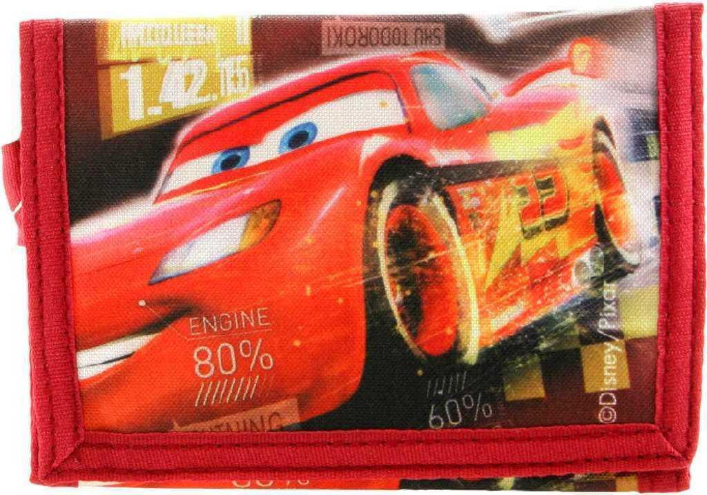 Peněženka dětská klučičí Cars (Auta) na suchý zip