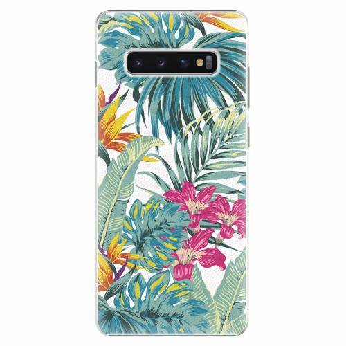 Plastový kryt iSaprio - Tropical White 03 - Samsung Galaxy S10+