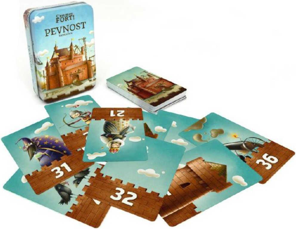 Hra karetní Pevnost Fort v plechové krabičce H2O voděodolné *SPOLEČENSKÉ HRY*