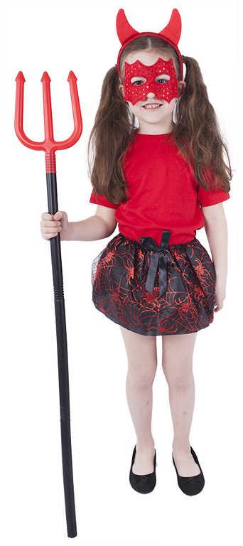 KARNEVAL Šaty čertice sukně tutu s doplňky 3-10 let (104-150 cm) *KOSTÝM*