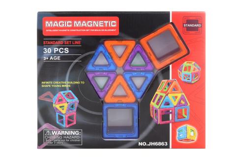 Magnetická stavebnice 30 ks