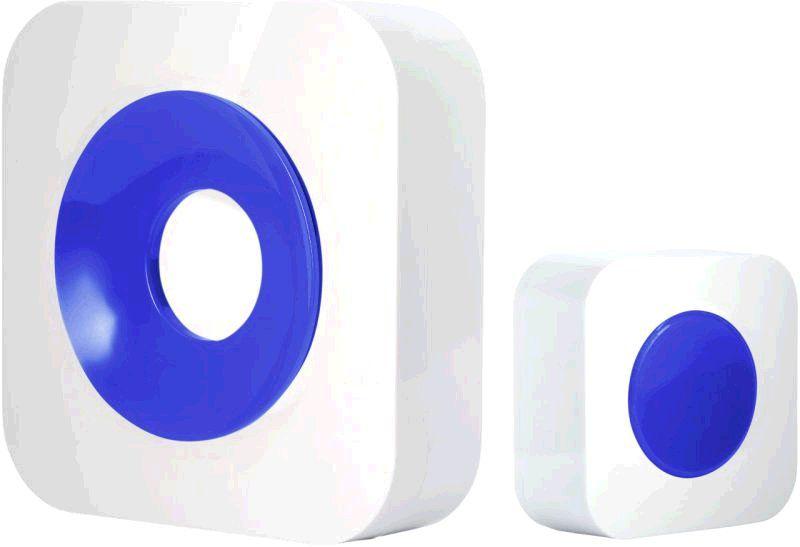 Zvonek Optex 990228 Bezdrátový designový barevný zvonek bílá/modrá s dlouhým dosahem