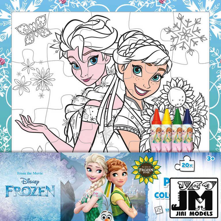 JIRI MODELS Omalovánky puzzle s voskovkami Frozen (Ledové Království)