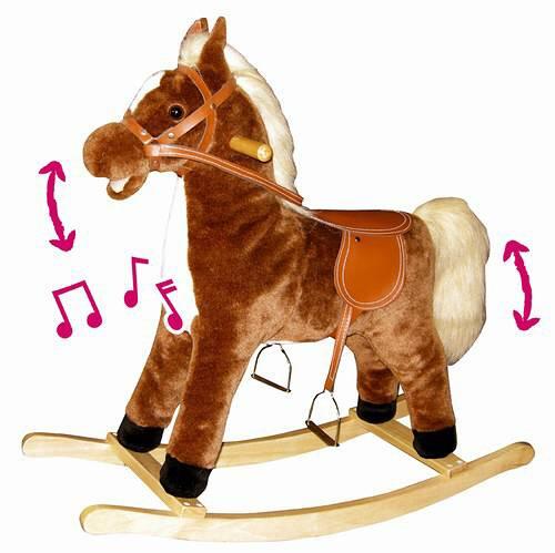 BINO Kůň (koník) houpací plyš střední *PLYŠOVÉ HRAČKY*