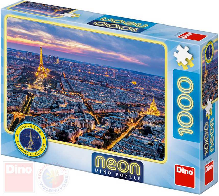 DINO Puzzle Paříž neon XL 66x47cm skládačka 1000 dílků svítící
