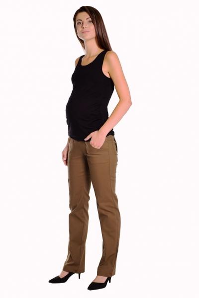 Bavlněné, těhotenské kalhoty s kapsami