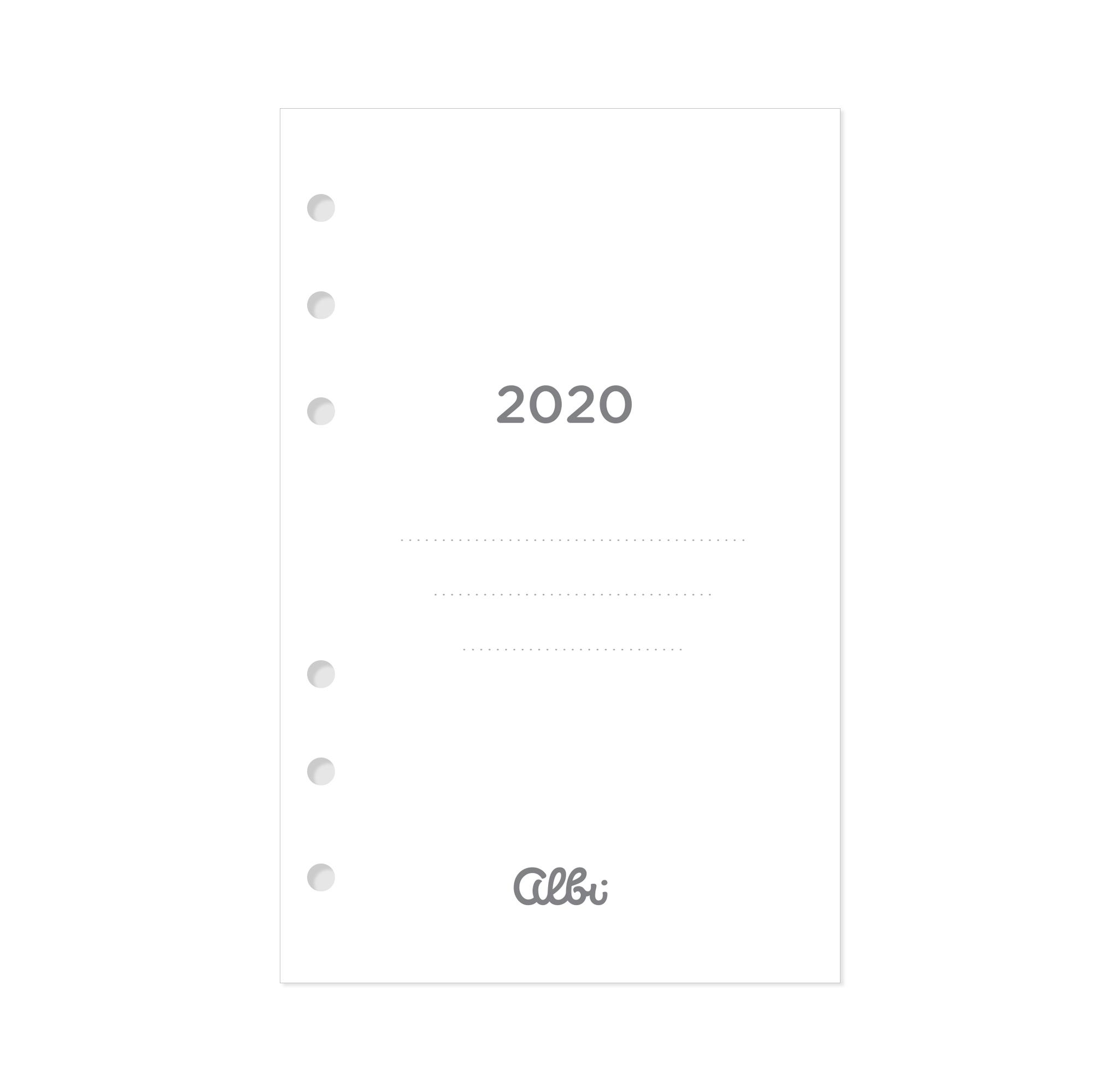 ALBI Kalendárium 2020 pro manažerský diář B6