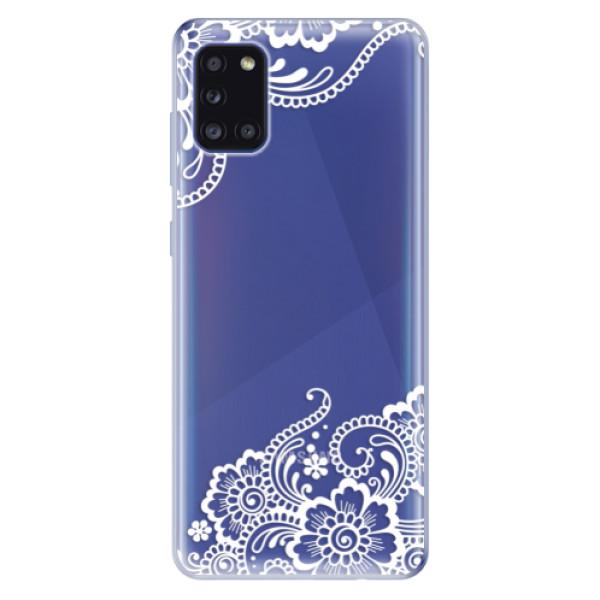 Odolné silikonové pouzdro iSaprio - White Lace 02 - Samsung Galaxy A31