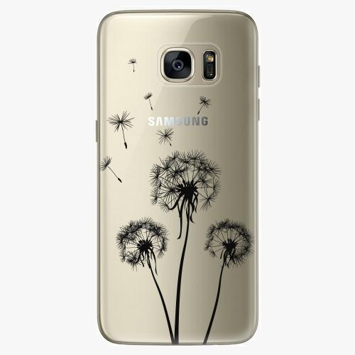 Plastový kryt iSaprio - Three Dandelions - black - Samsung Galaxy S7 Edge