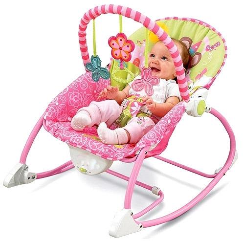 Tulimi Lehátko,houpačka pro kojence s vibrací a hudbou 3v1 Myška, růžová