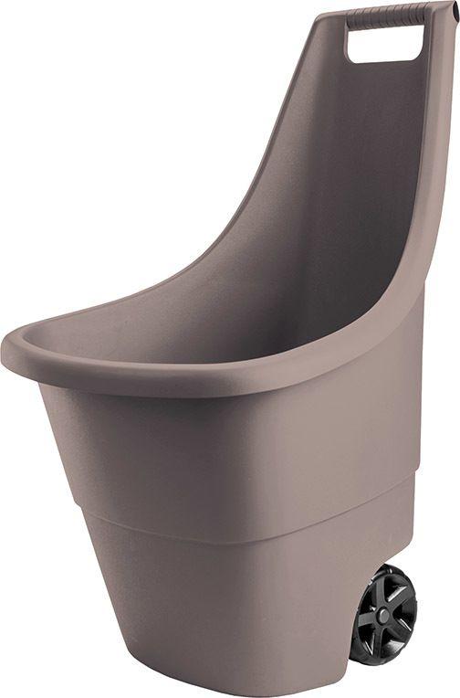 Plastový zahradní vozík EASY GO BREEZE 50L - hnědý