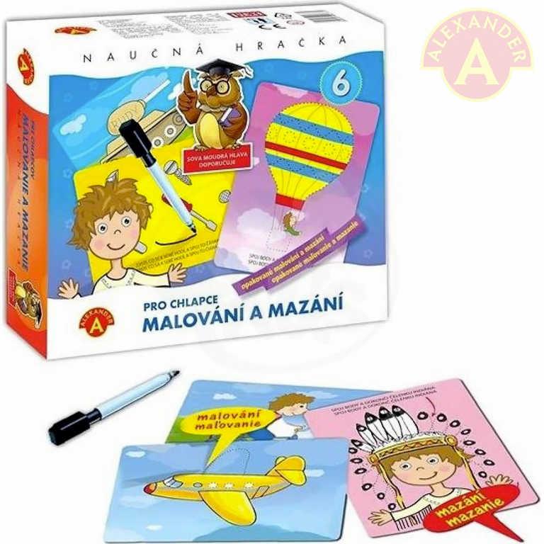 ALEXANDER Hra Malování a mazání pro chlapce naučný kreativní set v krabici