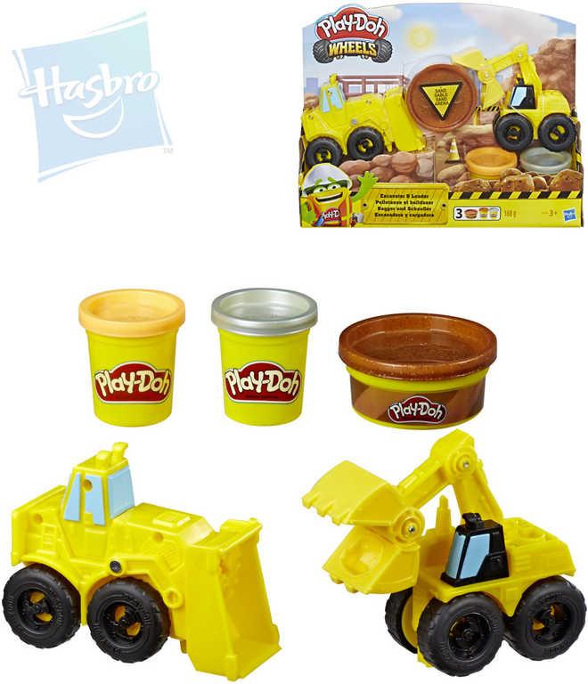 HASBRO PLAY-DOH Wheels těžba kreativní set modelína 3 kelímky se 2 auty