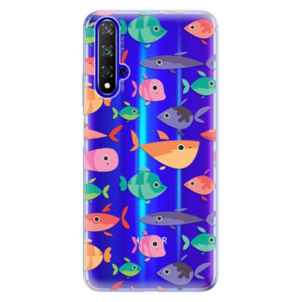 Odolné silikonové pouzdro iSaprio - Fish pattern 01 - Huawei Honor 20