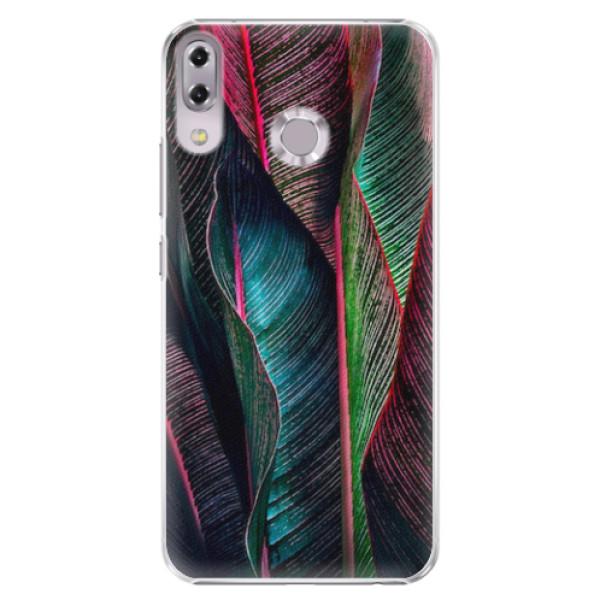 Plastové pouzdro iSaprio - Black Leaves - Asus ZenFone 5 ZE620KL