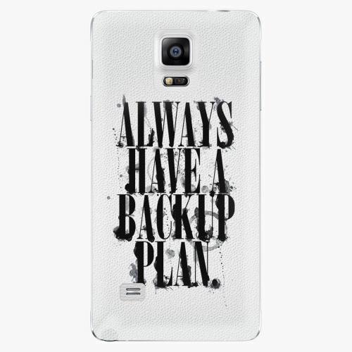 Plastový kryt iSaprio - Backup Plan - Samsung Galaxy Note 4