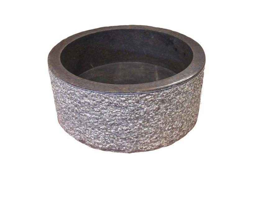 Umyvadlo z přírodního kamene MIRUM 509 ?40 cm Black