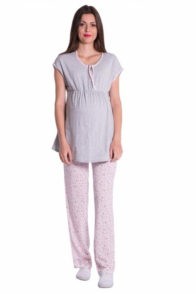 Be MaaMaa Těhotenské,kojící pyžamo květinky