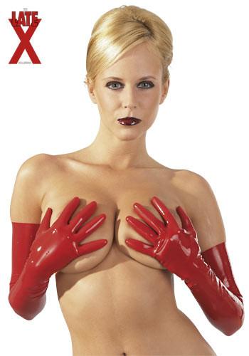 Latexové rukavice červené