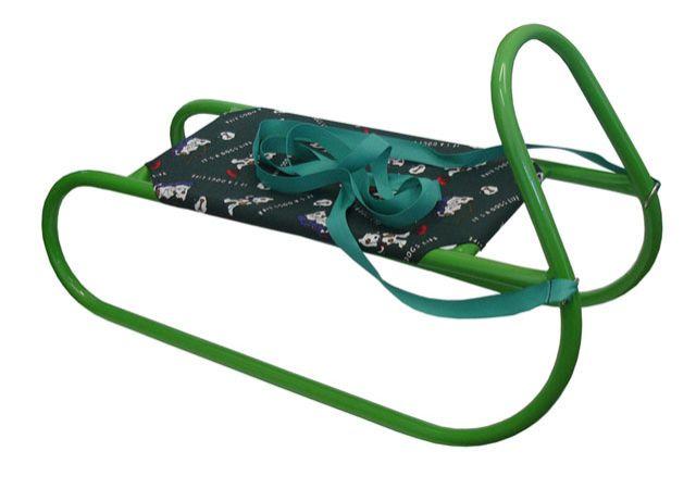 Sáně kovové dětské - zelené