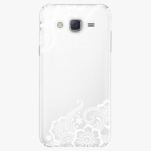 Plastový kryt iSaprio - White Lace 02 - Samsung Galaxy Core Prime