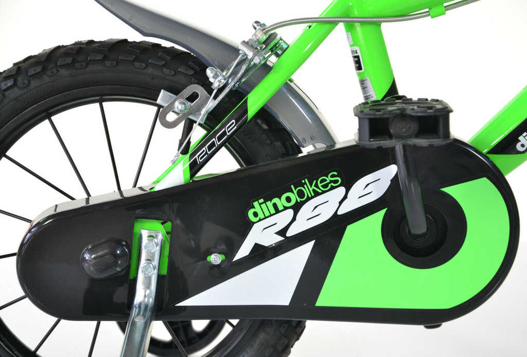 """ACRA Dětské kolo Dino Bikes 414U zelené chlapecké 14"""" balanční kolečka"""