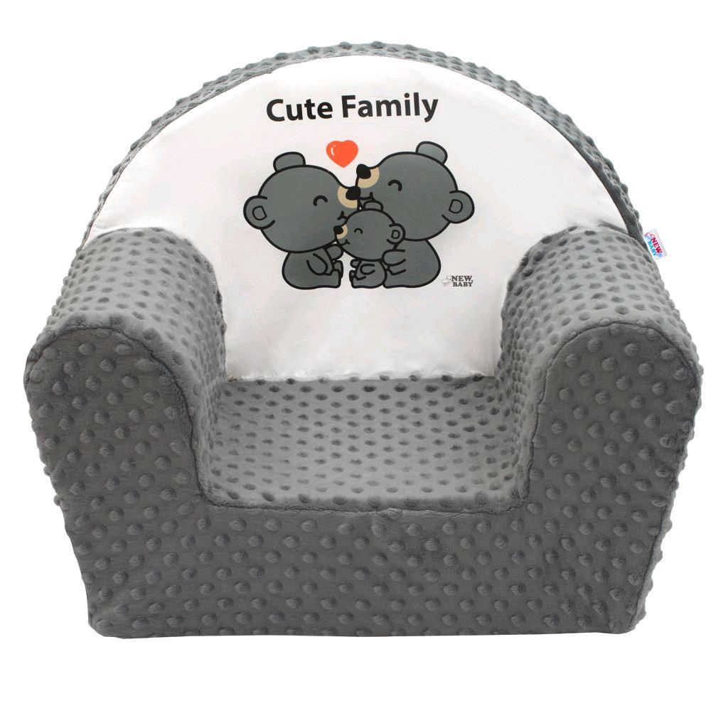 Dětské křeslo z Minky New Baby Cute Family