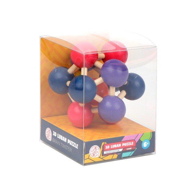 Dřevěný hlavolam - Molekula