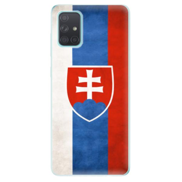 Odolné silikonové pouzdro iSaprio - Slovakia Flag - Samsung Galaxy A71