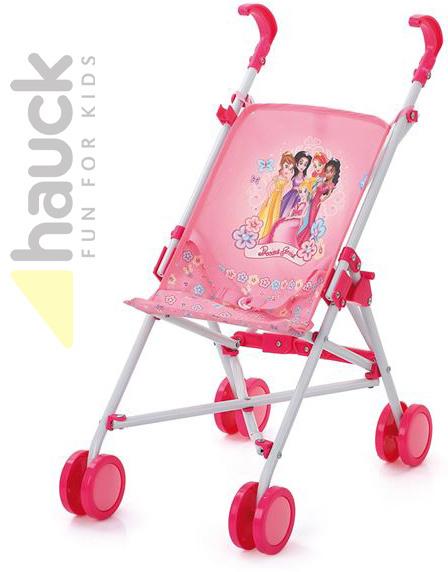 HAUCK Kočárek golfové hole potisk Disney Princezny růžový pro panenku kov