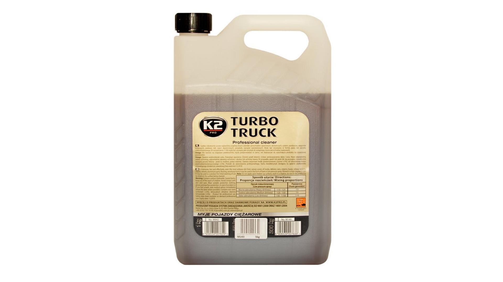 K2 TURBO TRUCK 5kg - profesionální čistič na kamiony