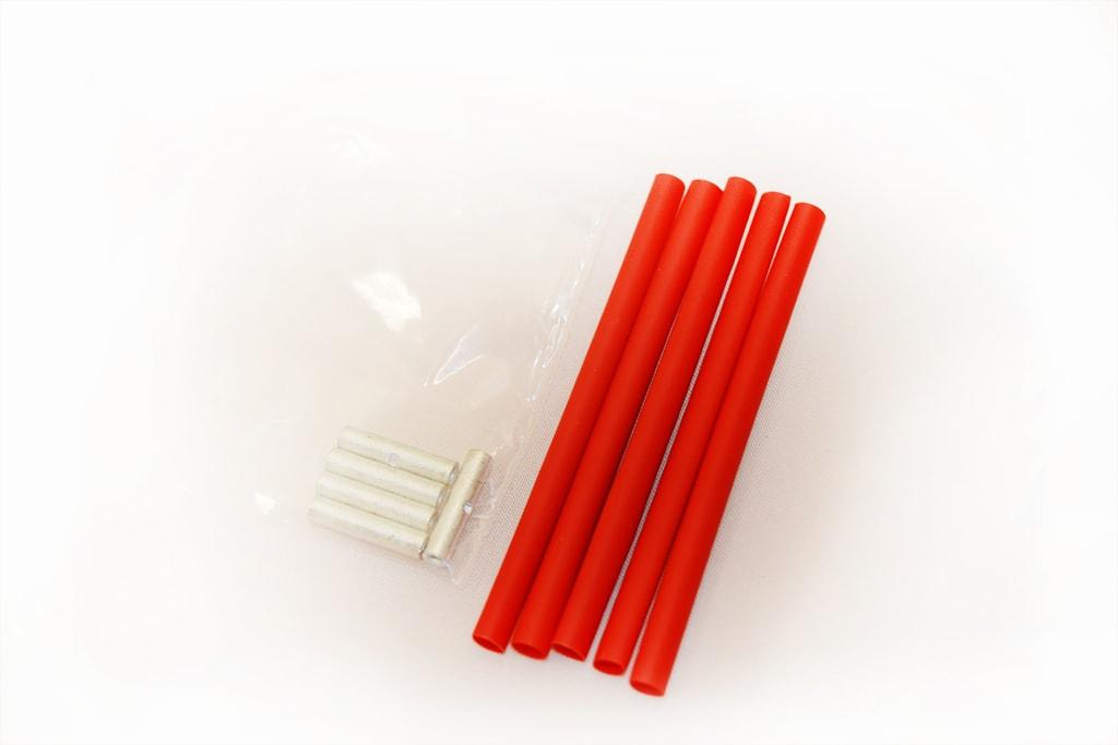 Spojky anténního drátu + smršťovací bužírky