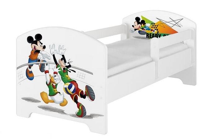 BabyBoo Dětská postel Disney - Mickey Ready - bílá, s matrací - 140x70