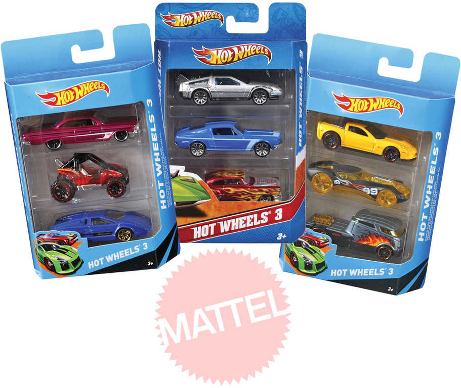 MATTEL HOT WHEELS HW Angličák 3 ks na kartě