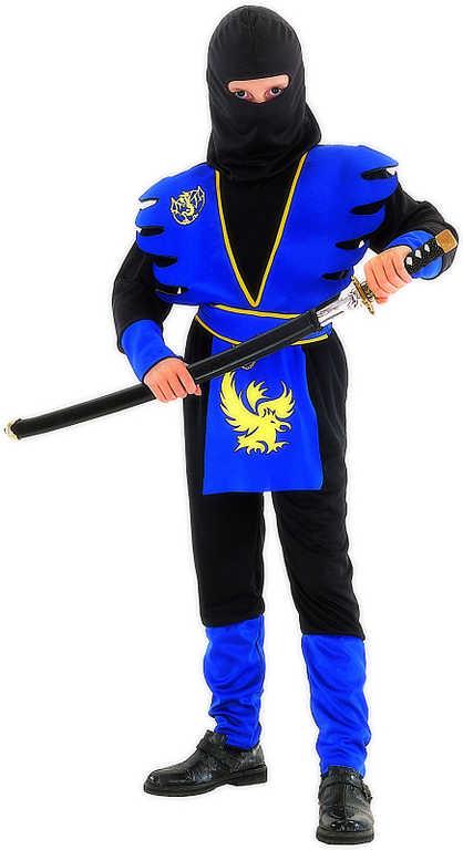 KARNEVAL Šaty Ninja černomodré vel. L (130-140cm) 8-10 let KOSTÝM