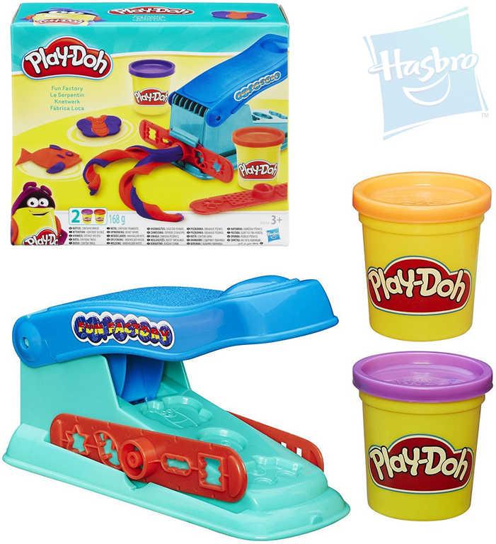 HASBRO PLAY-DOH Zábavná továrna kreativní set modelína 2 kelímky s doplňky