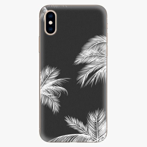 Silikonové pouzdro iSaprio - White Palm - iPhone XS