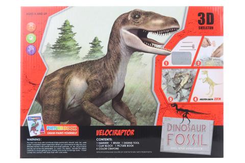 Tesání Velociraptor s omalovánky