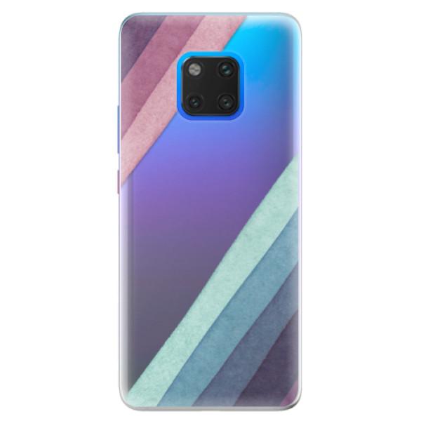 Silikonové pouzdro iSaprio - Glitter Stripes 01 - Huawei Mate 20 Pro