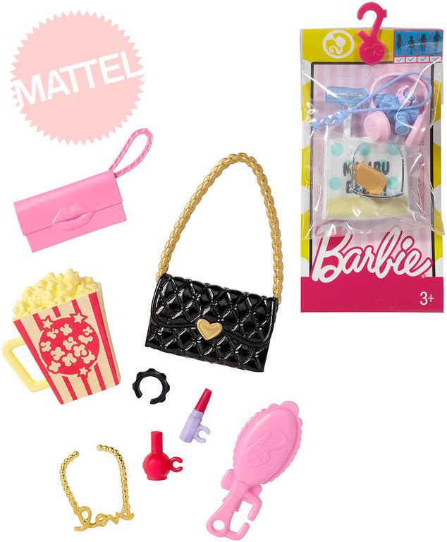 MATTEL BRB BARBIE Fashion doplňky set 8ks módní pro panenku 4 druhy na kartě plast