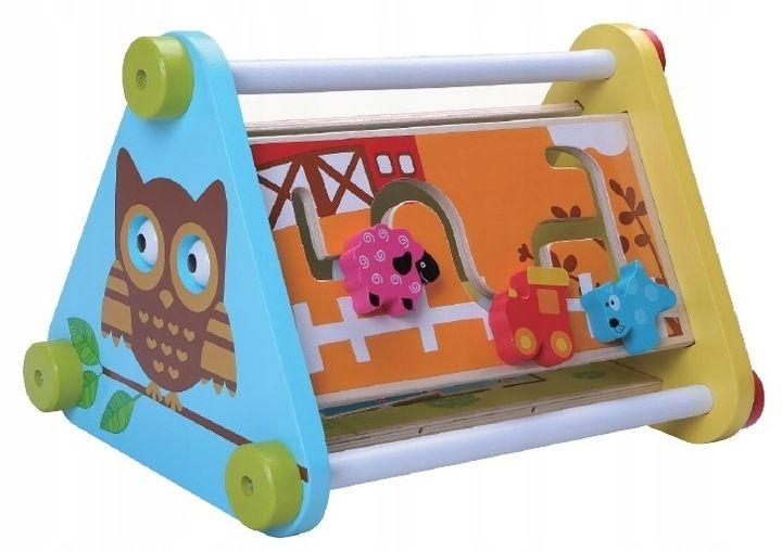 Dřevěná edukační hračka - Sovička