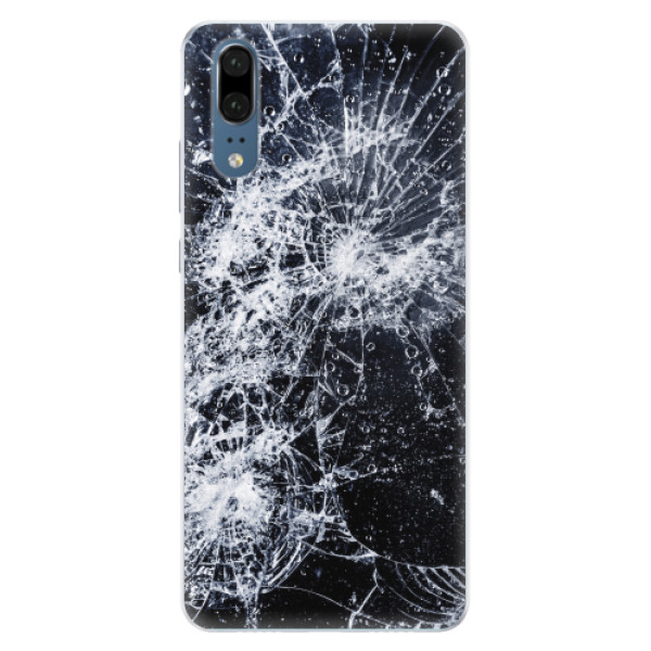 Silikonové pouzdro iSaprio - Cracked - Huawei P20
