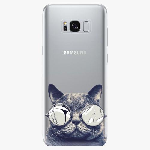 Silikonové pouzdro iSaprio - Crazy Cat 01 - Samsung Galaxy S8